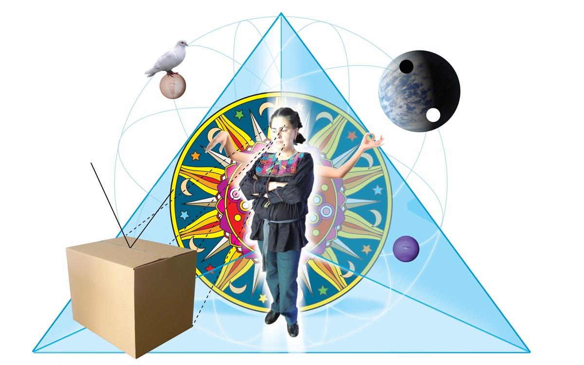 Daniel Cruz. Técnica en collage Digital. Encontrar lo místico. Mandala 1. Completo.