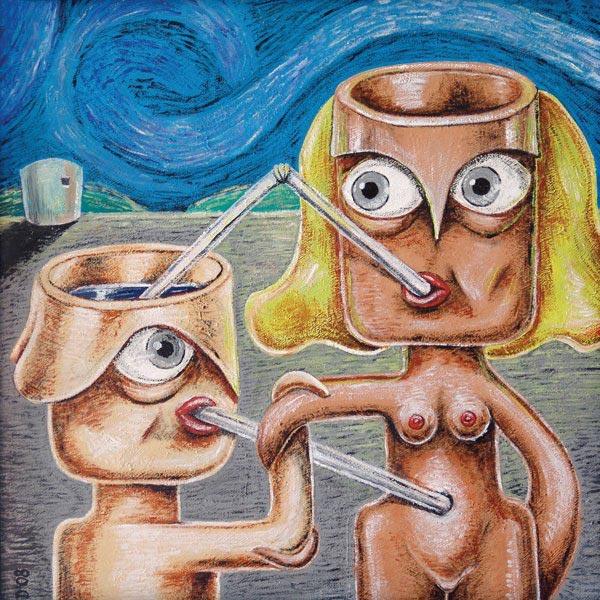 Daniel Cruz. Pintura, tema Relaciones humanas 2.